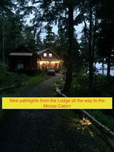 Alaska -Eagles Wings Retreat new path lights
